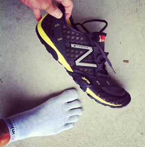 Injinji Performance Toe Sock and New Balance Minimus 10v2 Trail Shoe